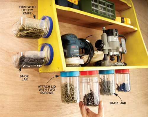 recycling plastic jars for storage bins