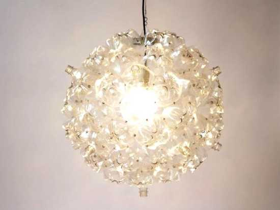 Recycling Plastic Bottles For Unique Lighting Fixtures By