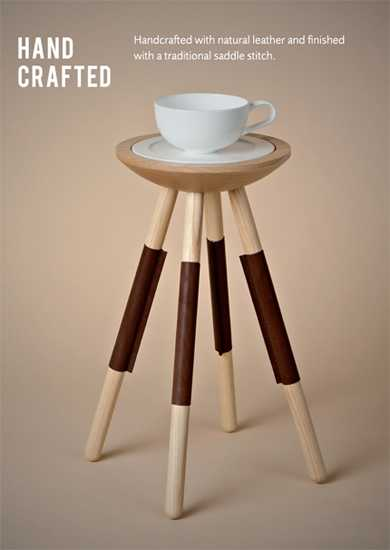 side table with plate and tea cup