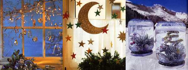 stars and evergreen plants as alternative christmas decorations