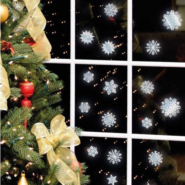 handmade paper snowflakes for christmas decorating - How To Decorate Windows For Christmas