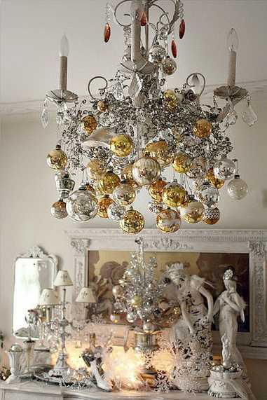 christmas decorating can be easy inexpensive and quick adding joy and fun to winter holiday season and creating unique festive and fabulous rooms - Christmas Chandelier Decorations