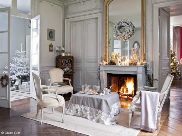 Elegant Christmas Decorating Ideas Blending Light Gray Color and ...