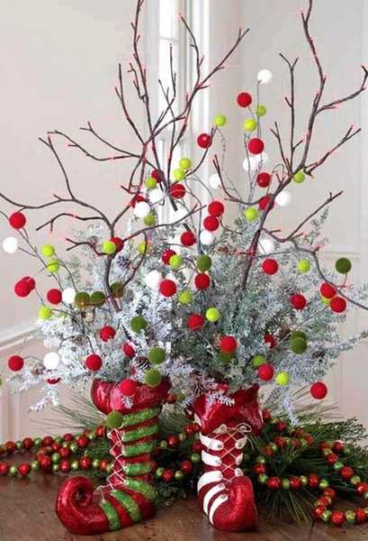 handmade christmas decorations and creative table centerpieces