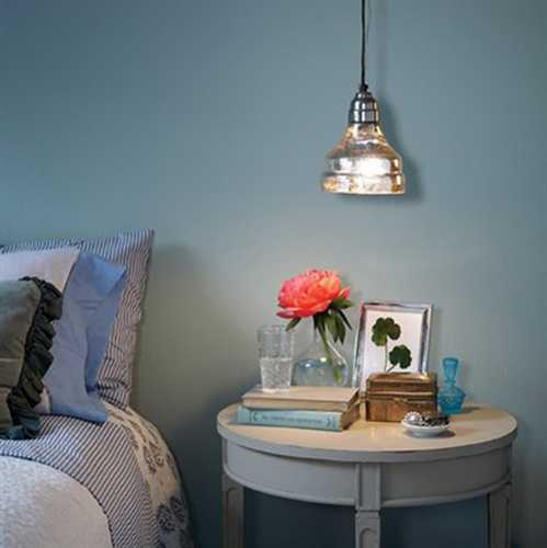 night table decorating and bedroom pendant light