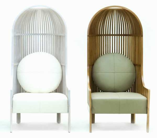 High Back Chair Design Offering Bird Cage Like Furniture