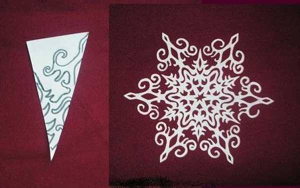 how to fold and make paper snowflakes