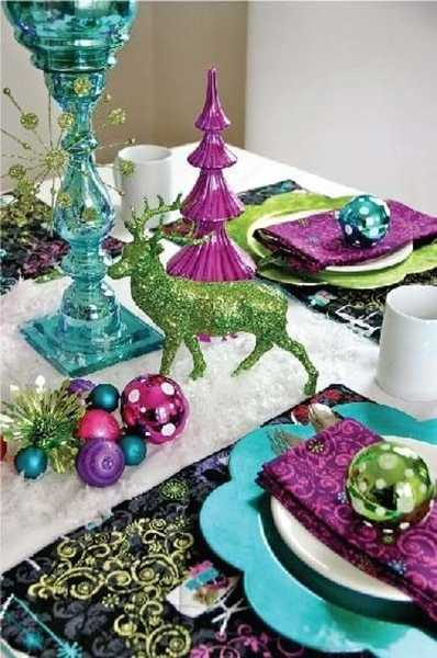 White And Purple Table Decorations, Centerpieces For Christmas Or New Years  Eve Party