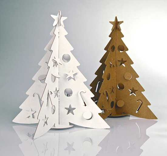 unique christmas tree decorating design reflecting old traditions and contemporary ideas - Cardboard Christmas Decorations