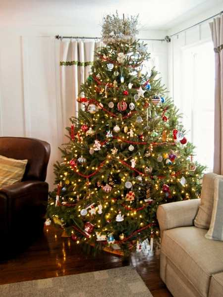 traditional and retro christmas tree decoration ideas