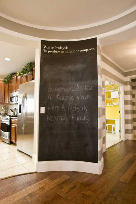 Creative Interior Decorating Ideas 26 Black Chalkboard