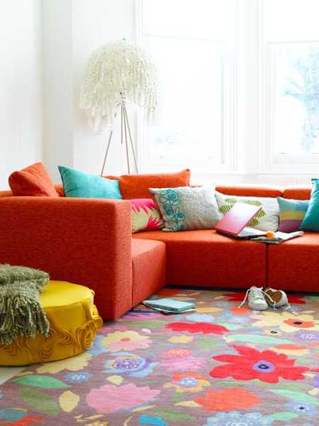 Colorful Living Room Decorating Ideas: Casual Modern Living Room Designs With Colorful Decor