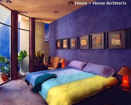 Purple Wall And Floor Rug Colorful Bedding Bedroom Decorating Ideas