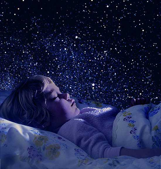Modern Kids Room Decorating Ideas Night Sky Wallpaper Fluorescent Paint And Led Lights