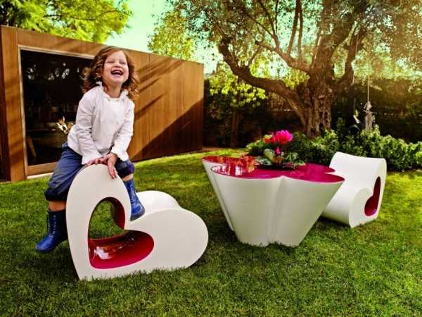 Creative Furniture for Kids, Functional Pink Flowers and Hearts