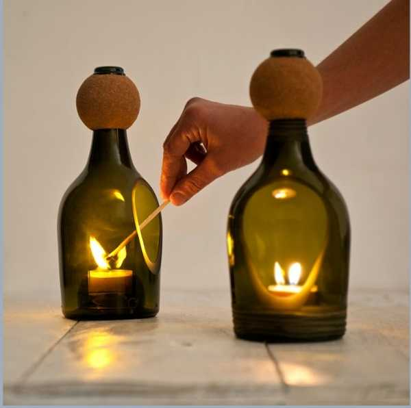 Attractive Modern Kitchen Accessories Made Of Recycled Glass Bottles