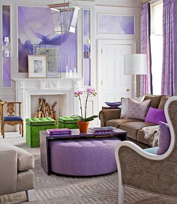 elements of purple living interior design | 22 Modern Interior Design Ideas with Purple Color, Cool ...
