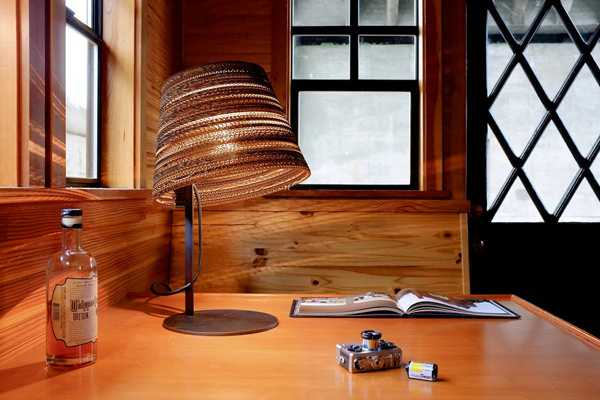 table lamp made from natural materials