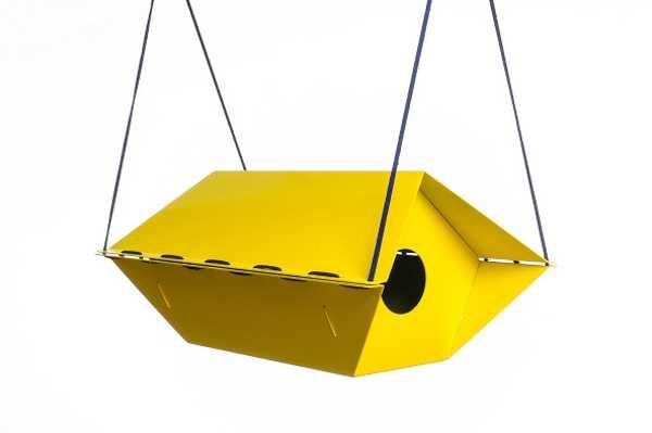 yellow birdhouse design