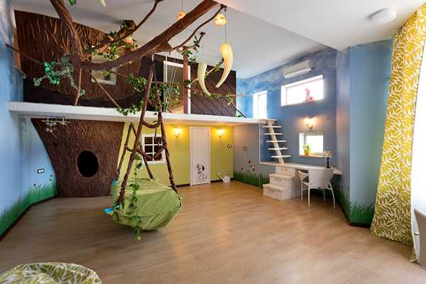 Two Level Kids Room Decorating Ideas