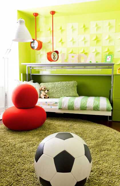 green color for kids room decorating