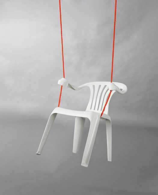 Creative Design Ideas Turn White Plastic Chairs Into Fun Seats And Swings