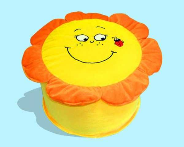 colorful pouf, kids decor accessories
