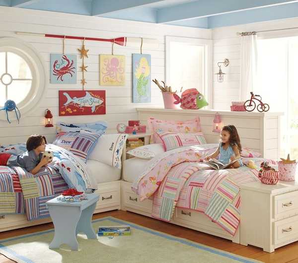 Two Children Bedroom Decor Ideas