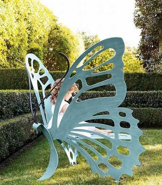 butterfly bench, garden furniture