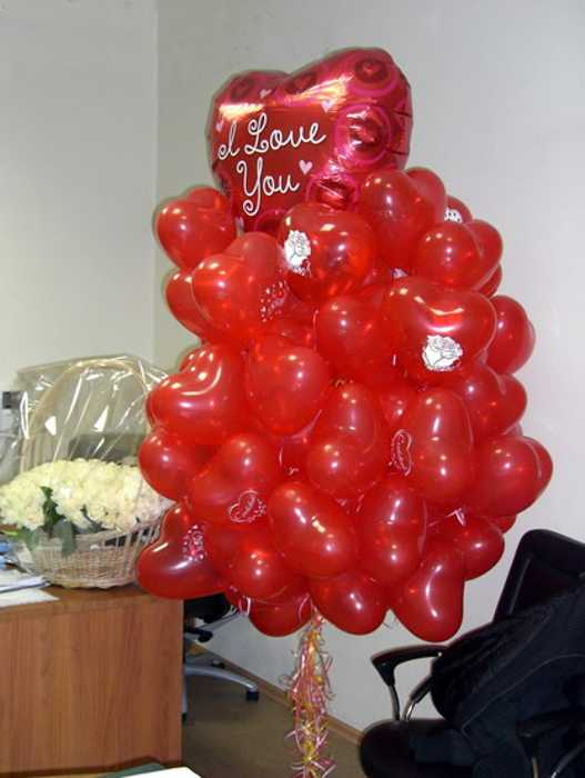 Red hearts balloons creative crafts and valentines day ideas