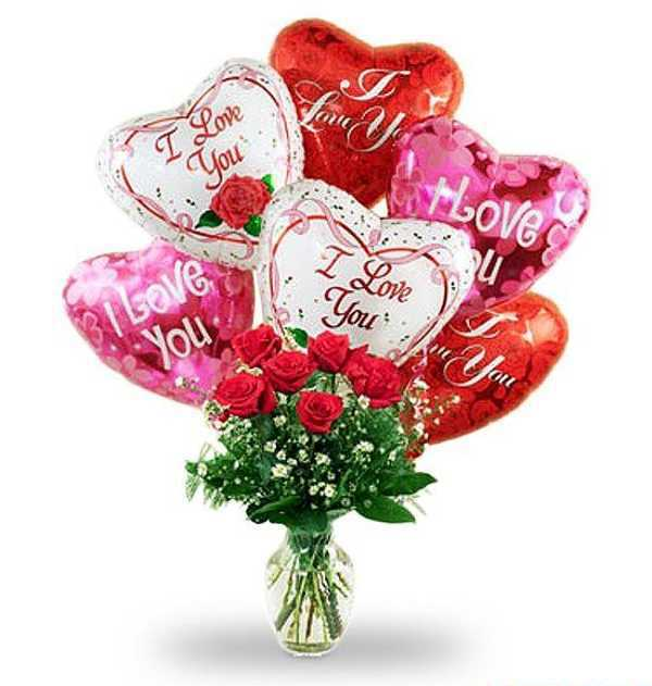 Red Hearts Balloons, Creative Crafts and Valentines Day Ideas