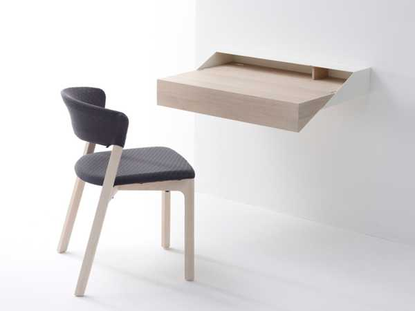 Contemporary Furniture Design Wall Mounted Extendable Computer Desk For Small Rooms