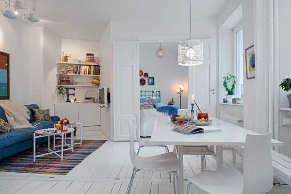 White Paint Colors Furniture Decor Accessories And Lighting Fixtures Small Interior Decorating In Scandinavian Style