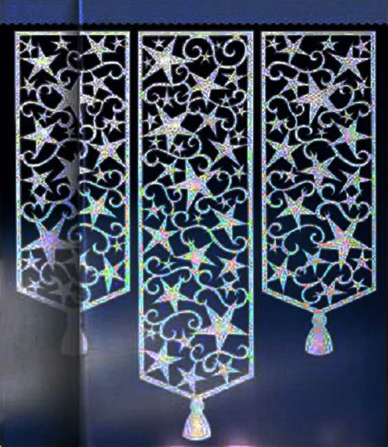 Perforated Window Curtains Adding Stylish Designs To