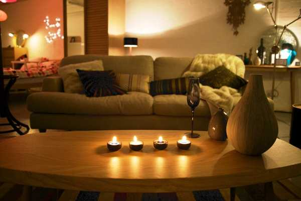 Candles Create Yellowish Light That Makes Winter Decorating Feel Warm And  Cozy