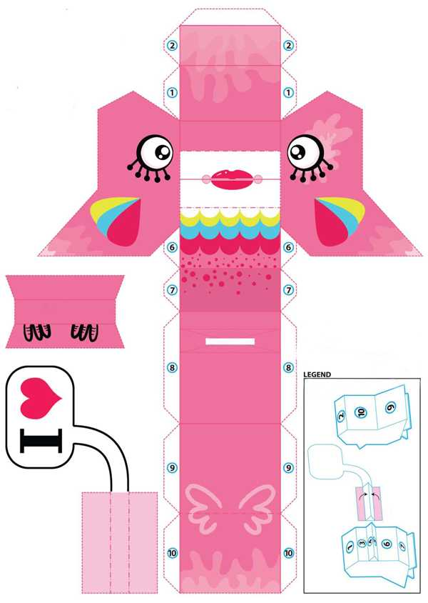 pink bird offering charming recycling paper craft ideas for kids and