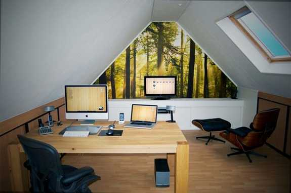 15 attic remodeling and redesign ideas creating modern - Creating a small home office ...