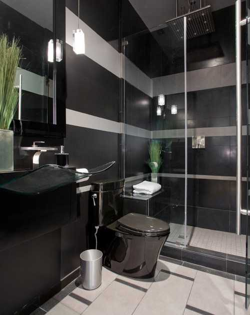 Choosing Black Bathroom Colors Is A Way To Add The Sophisticated, Luxurious  And Timeless Look To Modern Bathroom Design, While Complementing The White  And ...