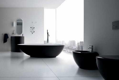 Black Bathroom Fixtures And Decor Keeping Modern Bathroom Design Elegant
