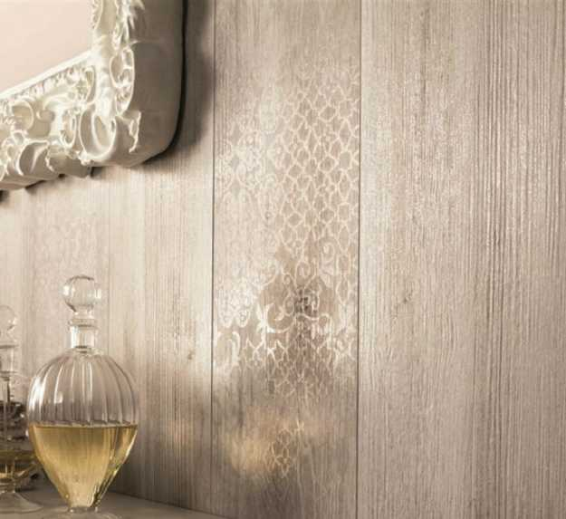 Modern Kitchen And Bathroom Tiles With Romantic Lace Pattern. The Ceramic  Tiles With Wood Look ...