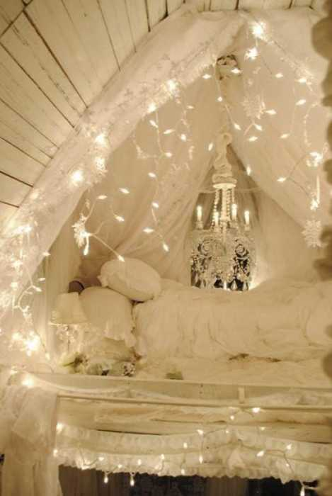 15 creative home decorating ideas with christmas lights personalizing interior decorating with a hanging letter using white christmas lights aloadofball Images