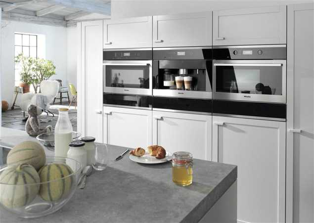 New Countertop Materials And High Tech Appliances Built In Modular Units