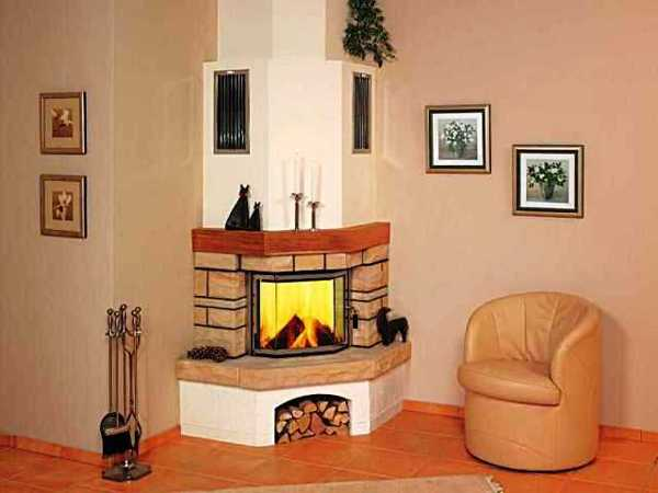 Corner Fireplaces Offering Unique Decorative Accents For