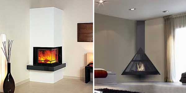 Corner Fireplaces Offering Unique Decorative Accents For E Saving Interior Design
