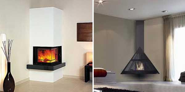 Corner Fireplaces Offering Unique Decorative Accents For Space Saving Interior Design