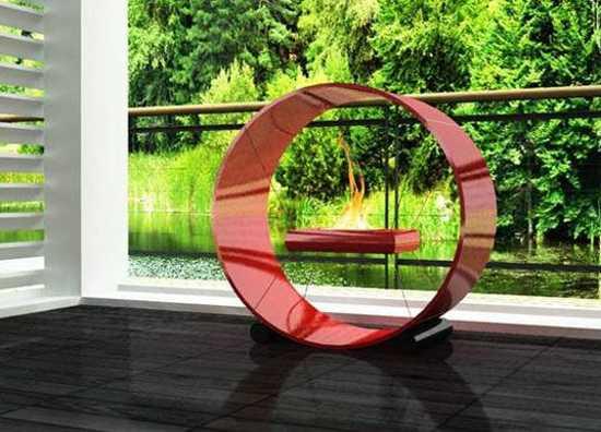 floating decorative fireplace design