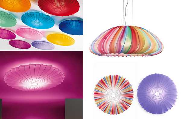 Colorful And Unique Lighting Fixtures With Fabric Lamp Shades
