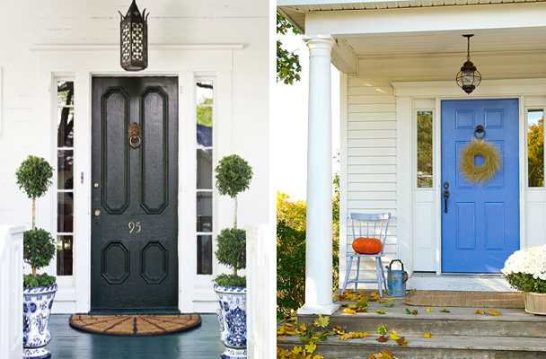 Black And Blue Paint Colors For Front Door Decoration