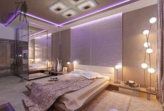 Contemporary Bedroom Design And Unique Lighting Ideas