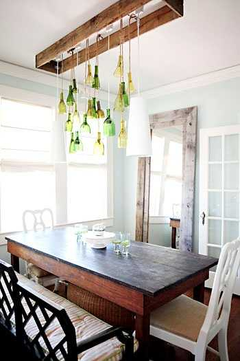 Pendant Lights And Hanging Home Decorations Made Of Glass Bottles